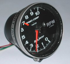 The 5 inch monster-tach for in the 1972 VW Beetle.