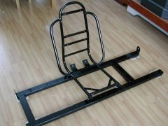 The rear seat frame for the 1972 VW Beetle.