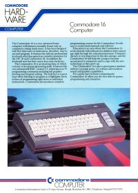 Brochures: Commodore C16