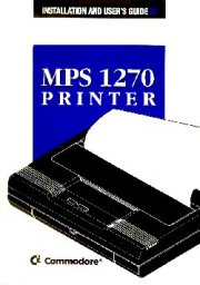 Installation and User's Guide MPS 1270 Printer