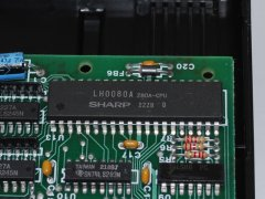 Detail foto van de Z80 processor in de Commodore CP/M cartridge.