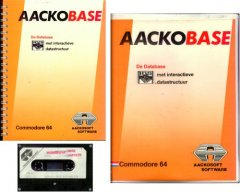 AackoBase database program with manual and original packaging.