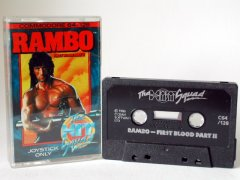 Commodore C64 game (cassette): Rambo - First Blood Part II