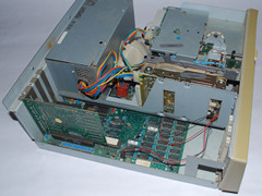 Inside of the Commodore PC 20-III computer.