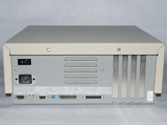 The rear view of the Commodore Colt computer.