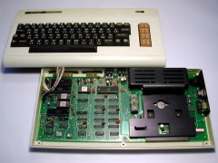 Commodore VIC-1001 inside view.