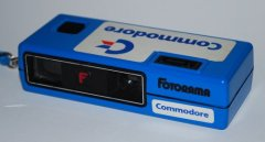 Fotorama viewshooter camera with Commodore logo. Front view.