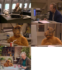 A Commodore SX-64 portable computer and a Amiga 2000 computer in the TV-series ALF.