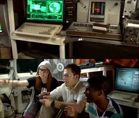 A Commodore Amiga 600 and a C64 computer in Angry Video Game Nerd: The Movie.