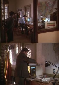 A Commodore Amiga 1000 computer and a 2002 monitor in the movie Homeward Bound: The Incredible Journey.
