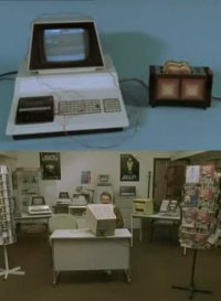 A Commodore PET 2001 in the British education TV-series Look around you.