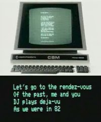 A Commodore CBM / PET 4032 in the music video Miss Kittin and The Hacker - 1982.