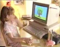 A Commodore Amiga 1000 and a Commodore 1084 monitor in the TV advert of Nutella.