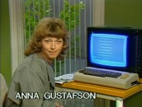 A Commodore C64 computer in the TV program: Pedagogiska magasinet.