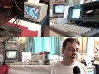 A Commodore Amiga CD-32, SX-64, C64c, 1541-II, 1084 and a 1702 in a TV-show of TV Brussel.