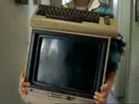 A Commodore C64 computer and a 1701 monitor in the TV-commercial from Subaru.