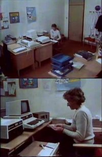 A Commodore CBM / PET computer and a 8050 disk drive on the The Computer Programme.