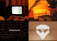 A Commodore C64 computer and a 1541c disk drive in the music video The Calling by Xosar.
