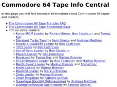 C64 Tape Info Central