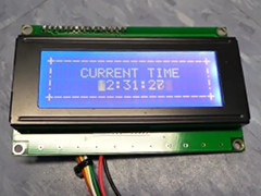 LCD character screen - user-port